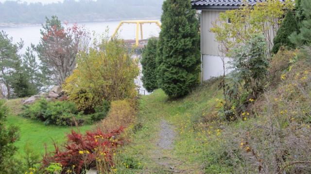 Øvre del av Fiskernes vei, sett fra Støperiveien