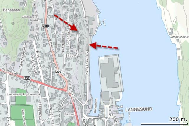 Pilene viser til Fiskernes vei