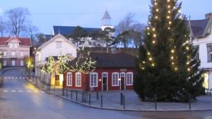 Julegrana på torget