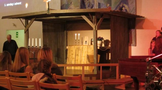 Julekrybben i Langesund kirke
