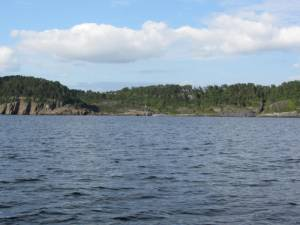 Steinvika fra sjøen