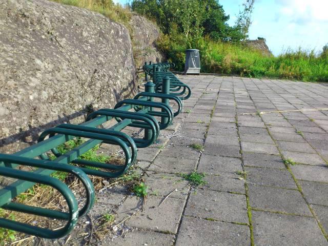 Her kan du plassere sykkelen