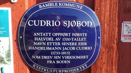 Cudrio sjøbod Plakett